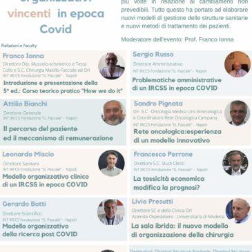 EVENTO: MODELLI ORGANIZZATIVI VINCENTI IN EPOCA COVID – 26 ottobre 2020 – h 14.30 – 18.00